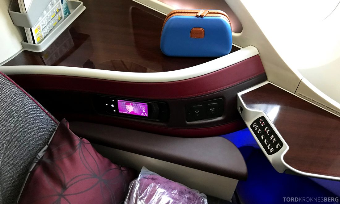 Qatar Airways Business Class Oslo Doha sete