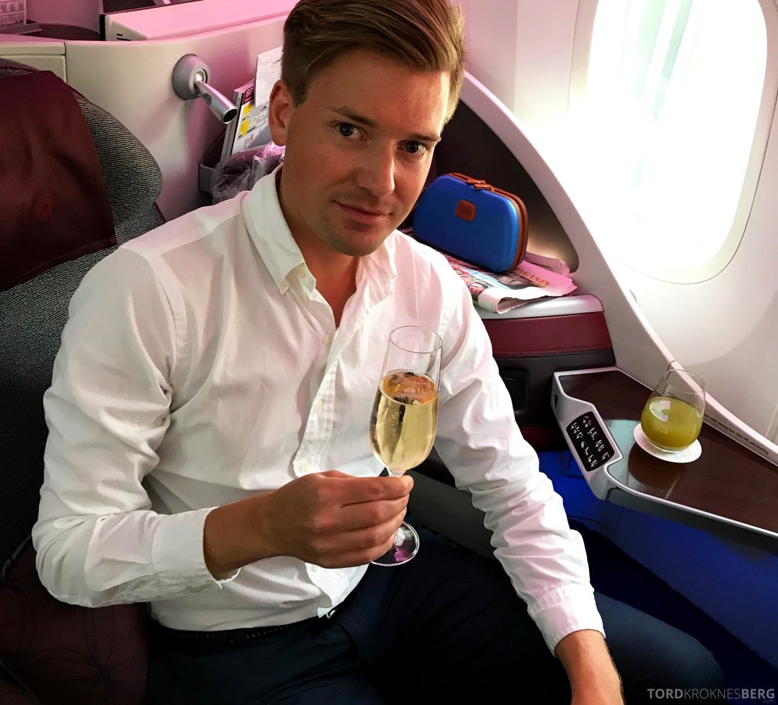 Qatar Airways Business Class Oslo Doha Tord Kroknes Berg