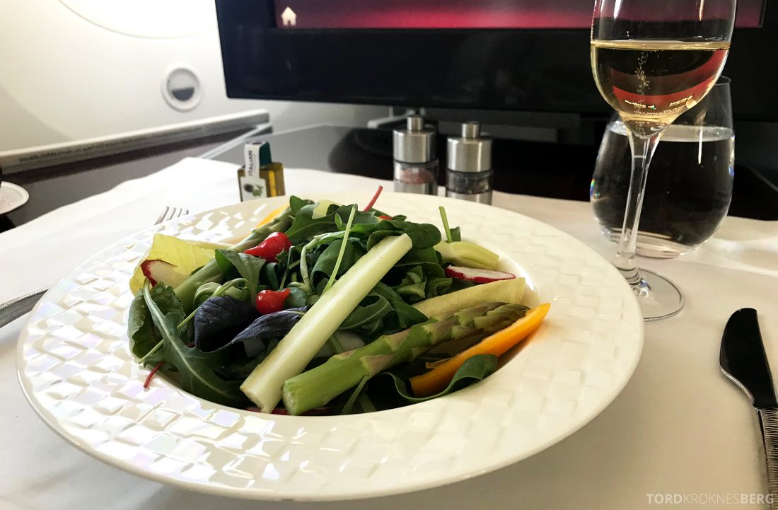 Qatar Airways Business Class Oslo Doha salat