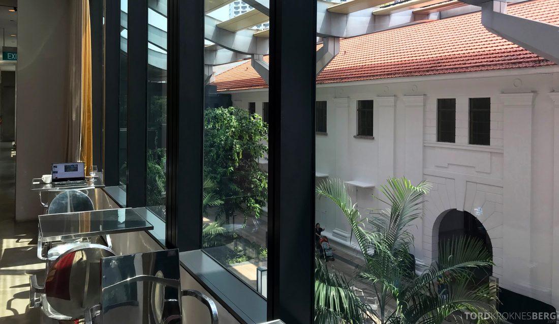 JW Marriott Hotel South Beach Singapore Executive Lounge utsikt Raffles