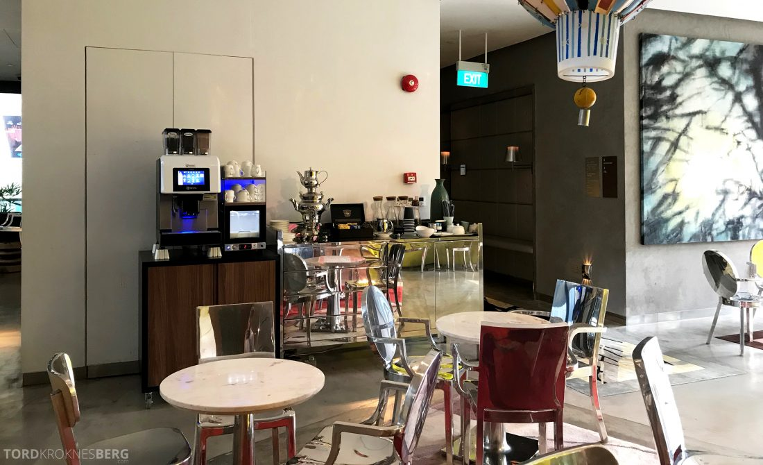 JW Marriott Hotel South Beach Singapore Executive Lounge kaffemaskin