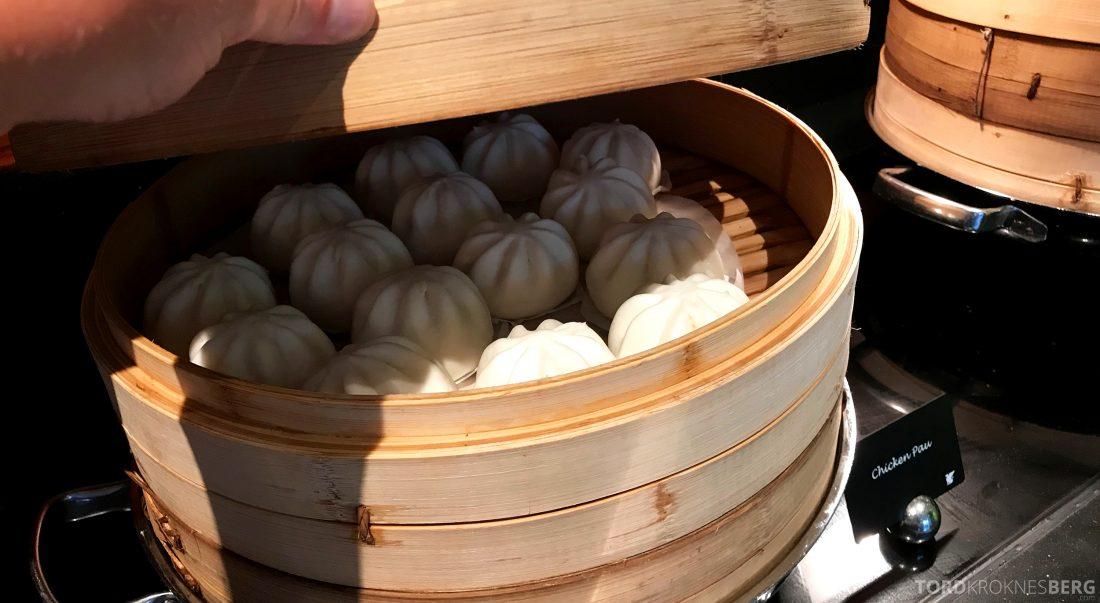 JW Marriott Hotel South Beach Singapore Executive Lounge dumplings