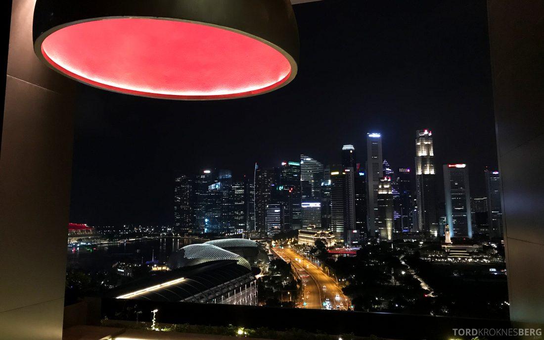 JW Marriott Hotel South Beach Singapore utsikt toppetasje