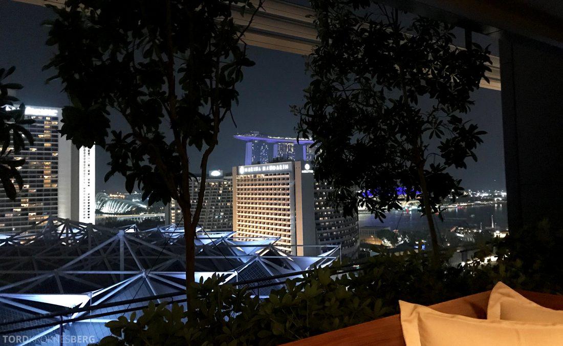 JW Marriott Hotel South Beach Singapore utsikt fra bar