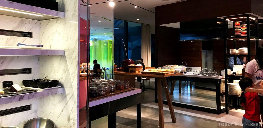 JW Marriott Hotel South Beach Singapore Executive Lounge frokostbuffet
