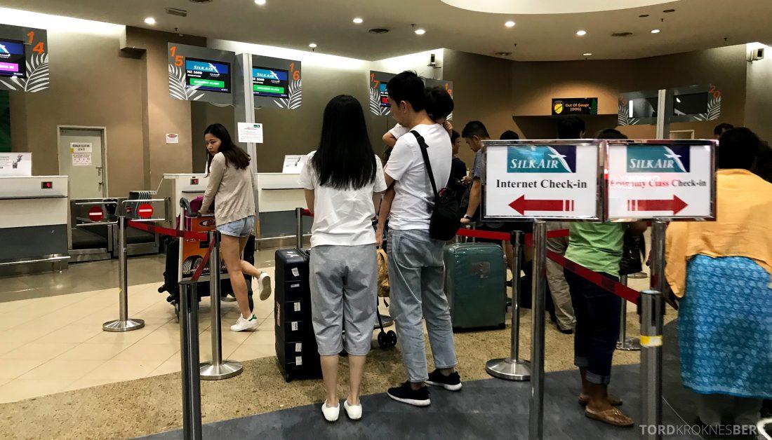 SilkAir Economy Class Penang Singapore innsjekk