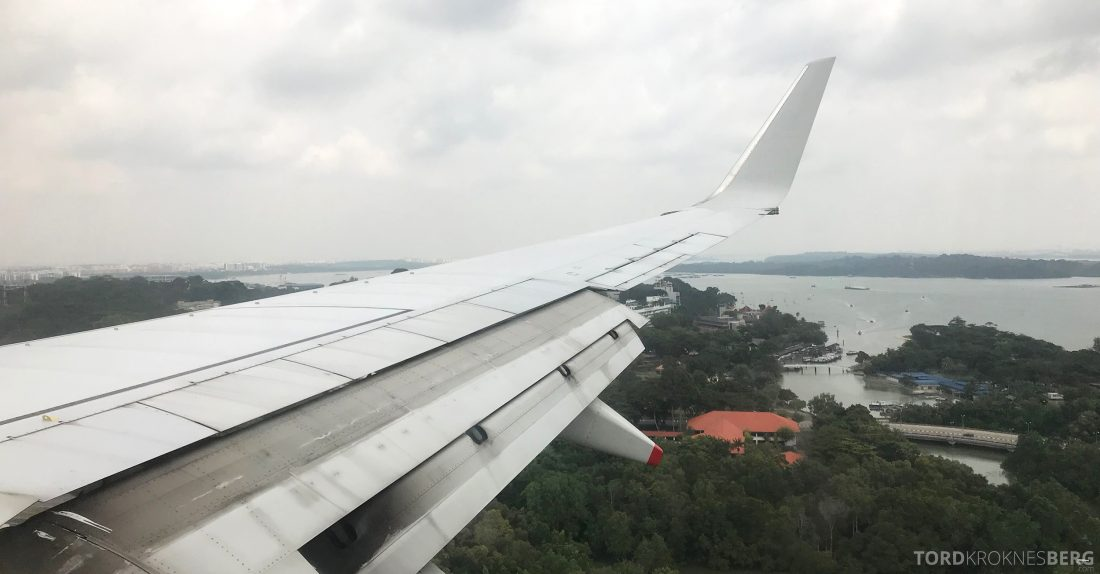 SilkAir Economy Class Penang Singapore landing
