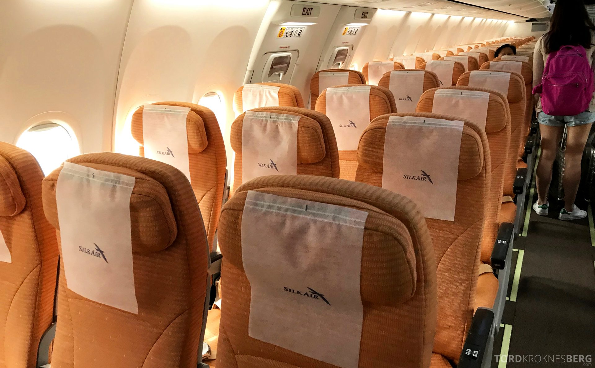 SilkAir Economy Class Penang Singapore seter