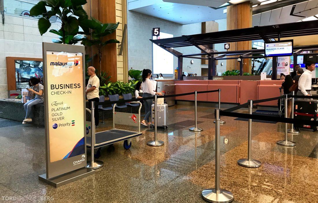 Malaysia Airlines Economy Class Singapore Kuala Lumpur innsjekk