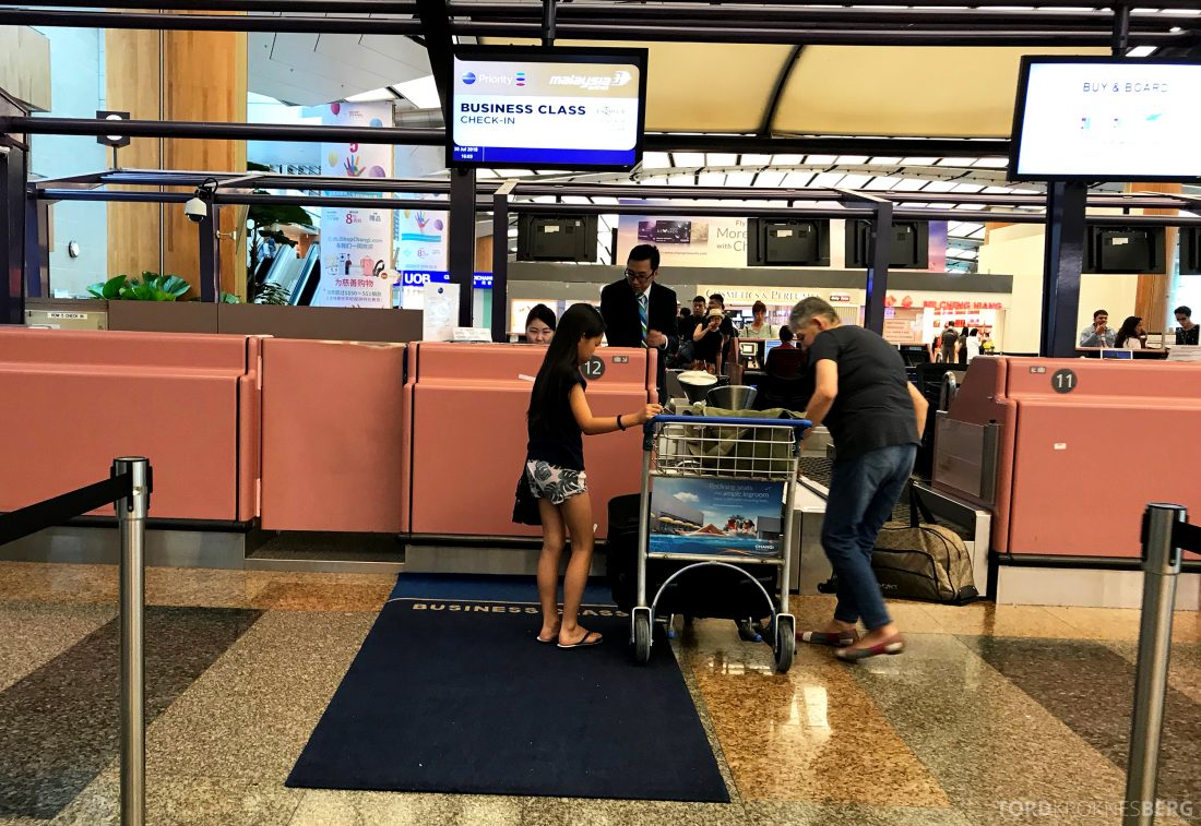 Malaysia Airlines Economy Class Singapore Kuala Lumpur innsjekk teppe