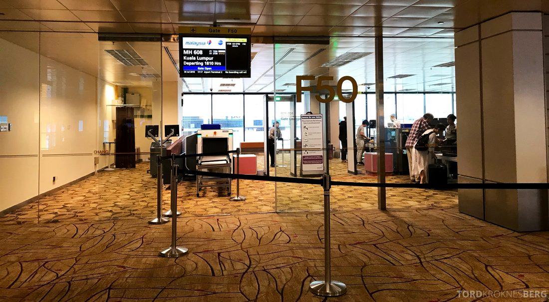 Malaysia Airlines Economy Class Singapore Kuala Lumpur gate