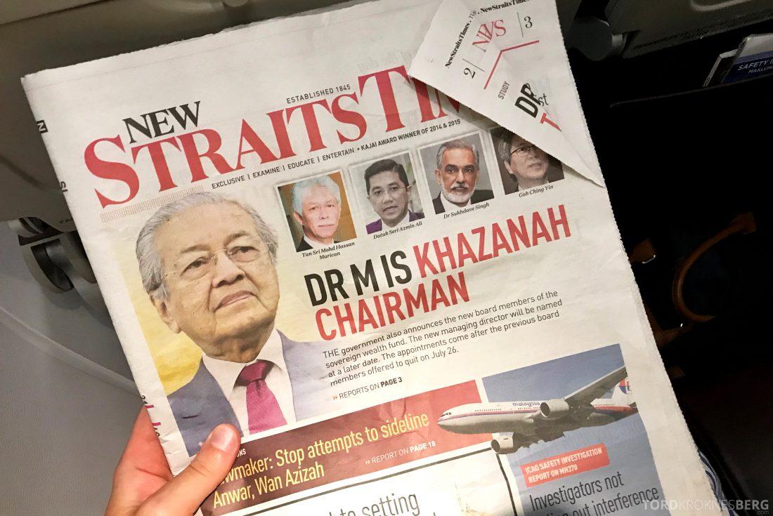 Malaysia Airlines Economy Class Kuala Lumpur Penang avis