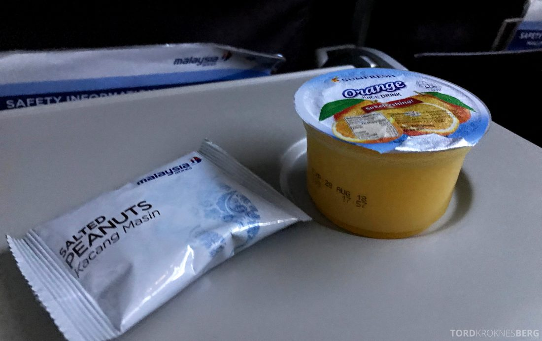 Malaysia Airlines Economy Class Kuala Lumpur Penang mat