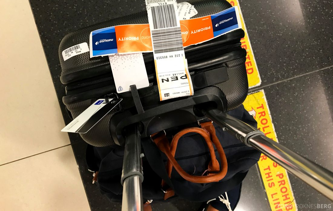 Malaysia Airlines Economy Class Kuala Lumpur Penang prioritert bag