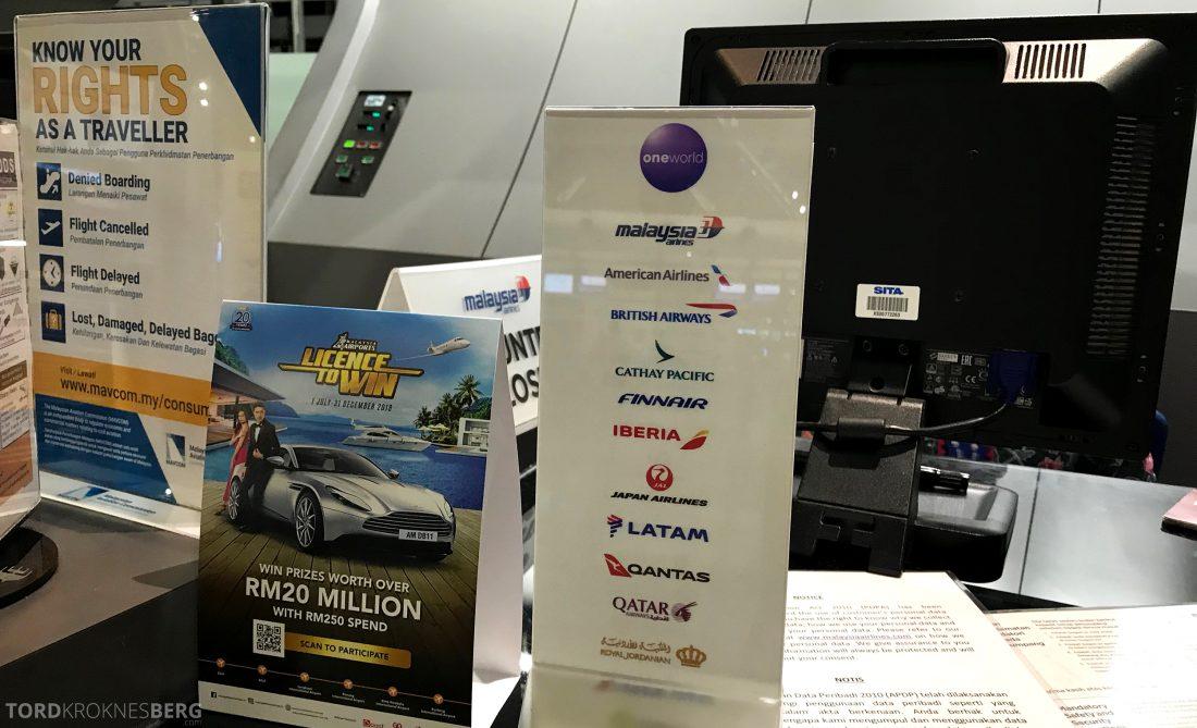 Malaysia Airlines Economy Class Kuala Lumpur Penang OneWorld