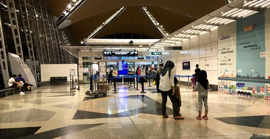 Malaysia Airlines Economy Class Kuala Lumpur Penang sikkerhetskontroll