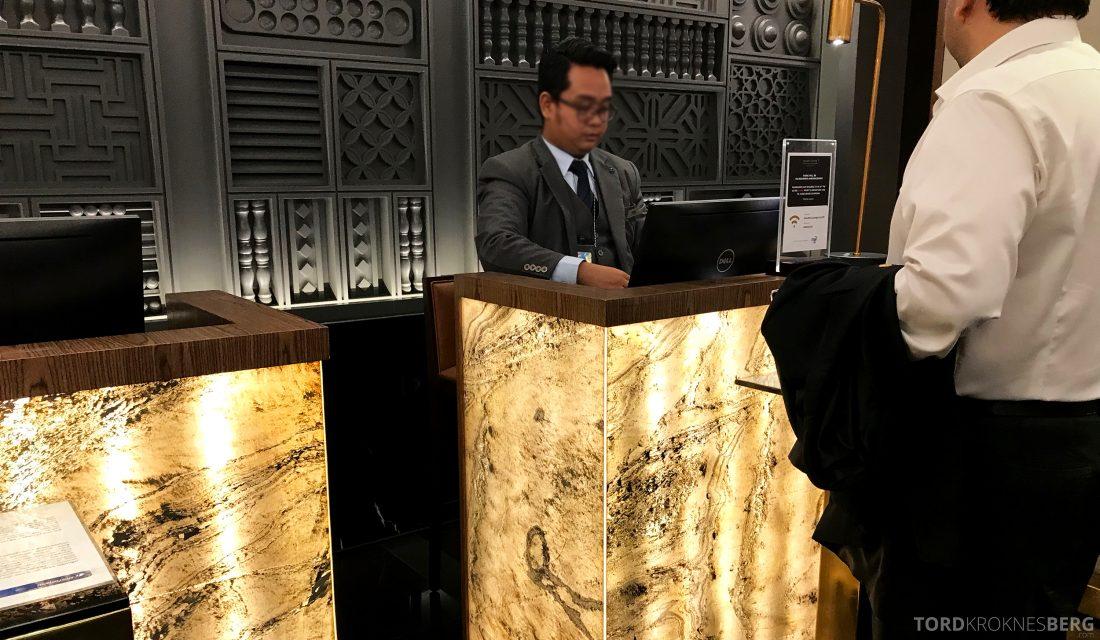 Malaysia Airlines Golden Lounge Kuala Lumpur resepsjon