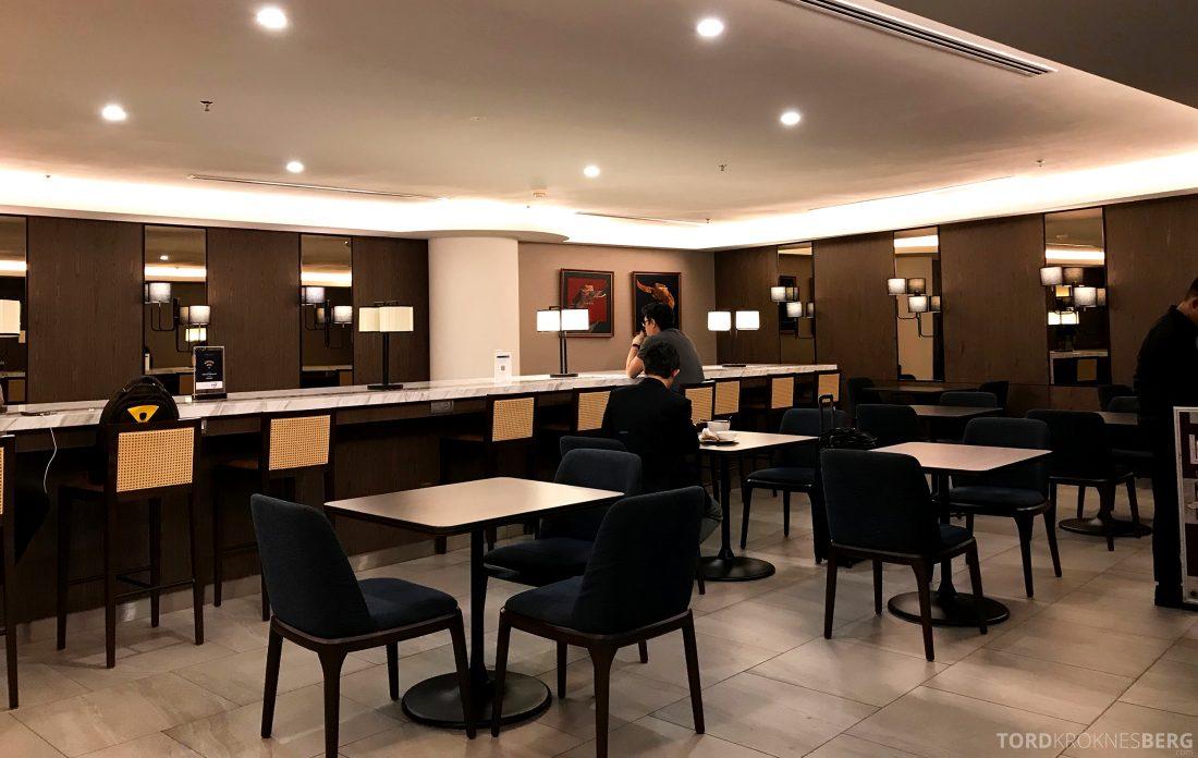 Malaysia Airlines Golden Lounge Kuala Lumpur spiseavdeling