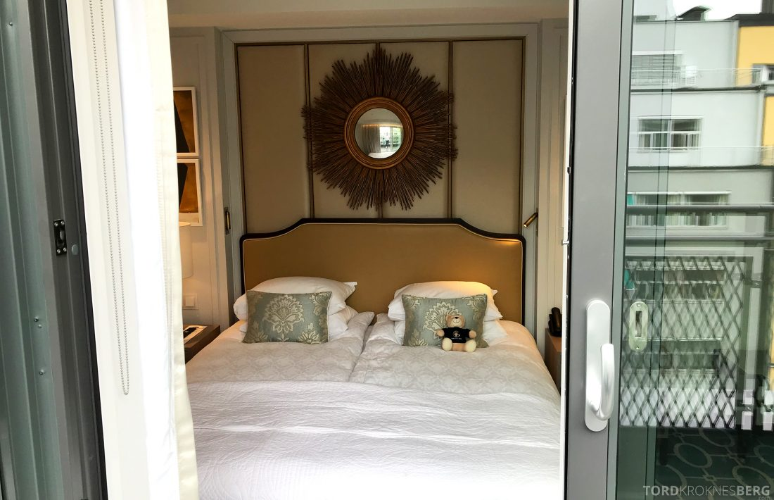 Hotel Continental Oslo seng fra balkong