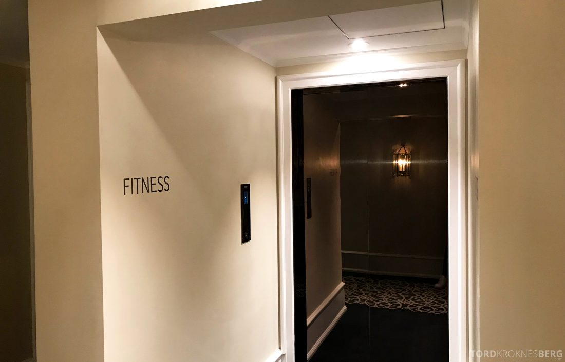 Hotel Continental Oslo heis til gym