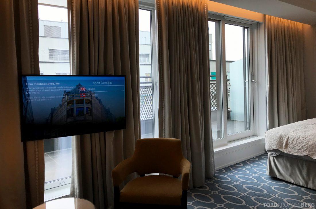 Hotel Continental Oslo fjernsyn