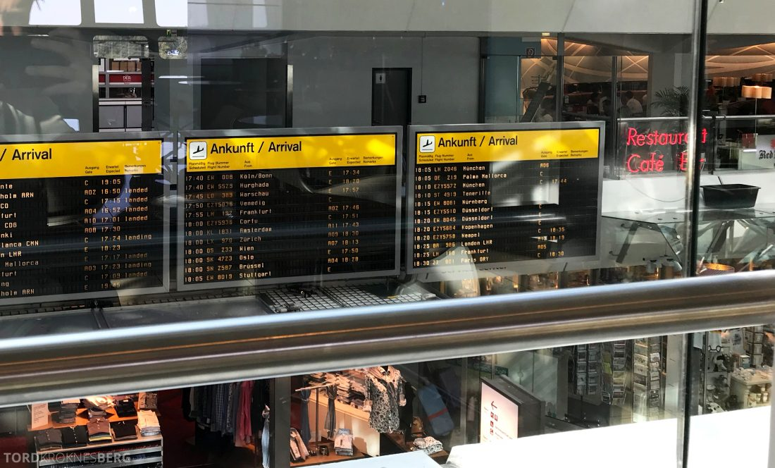 Lufthansa Senator Lounge Berlin utsikt
