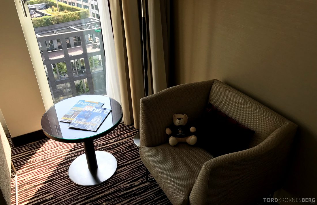 Marriott Berlin Hotel sofa