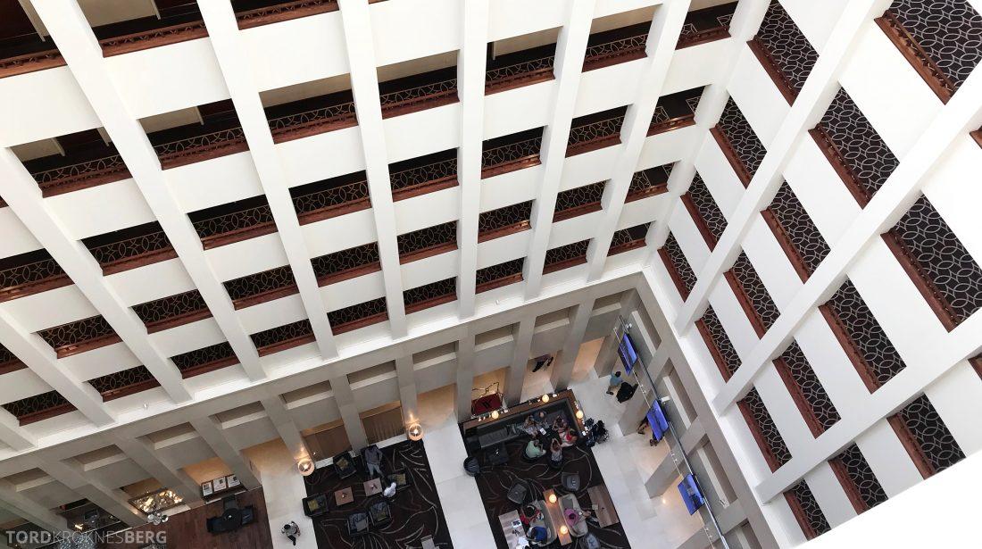 Marriott Berlin Hotel lobby utsikt