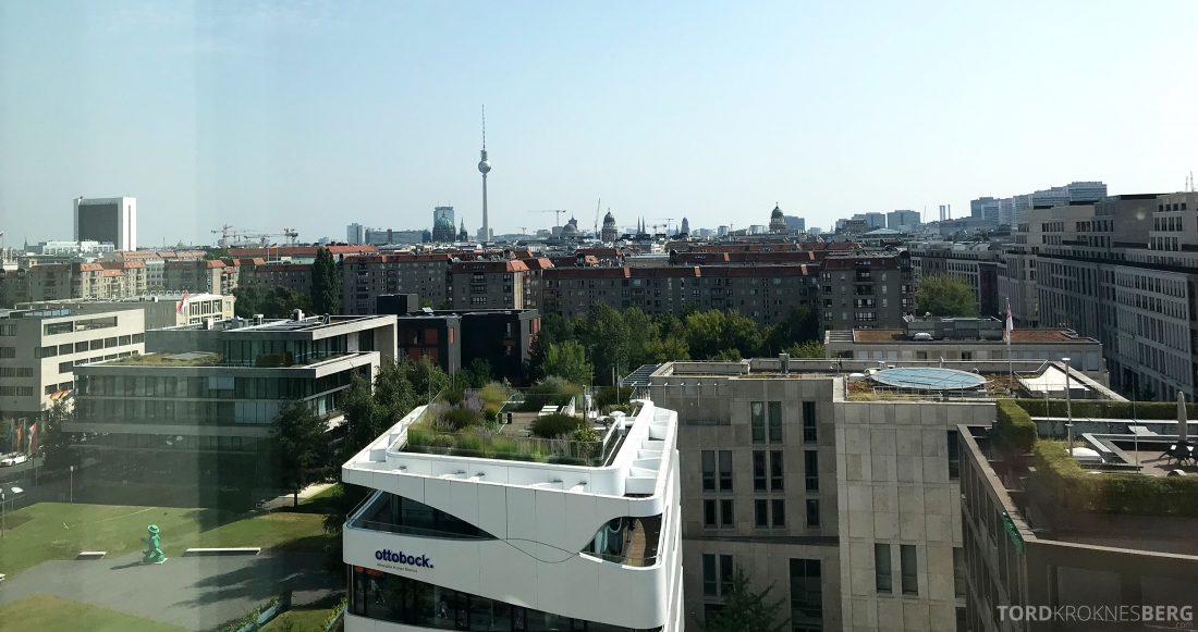 Marriott Berlin Hotel utsikt værelse