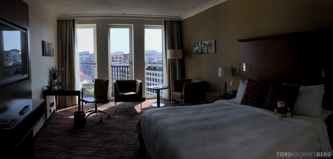 Marriott Berlin Hotel panorama værelse