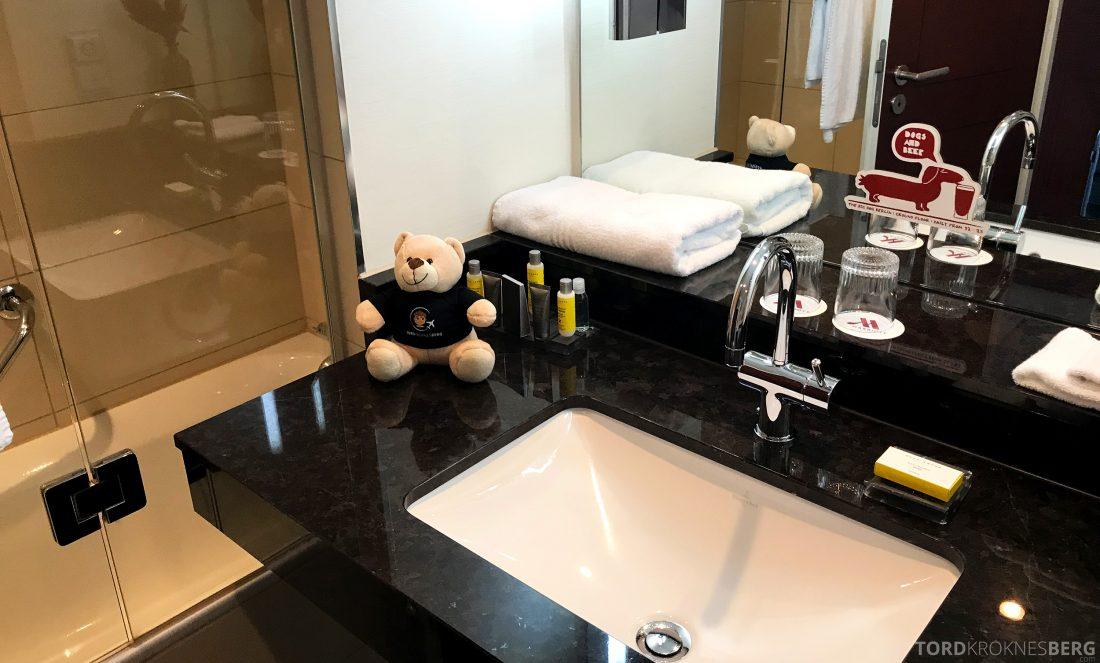 Marriott Berlin Hotel reisefølget bad