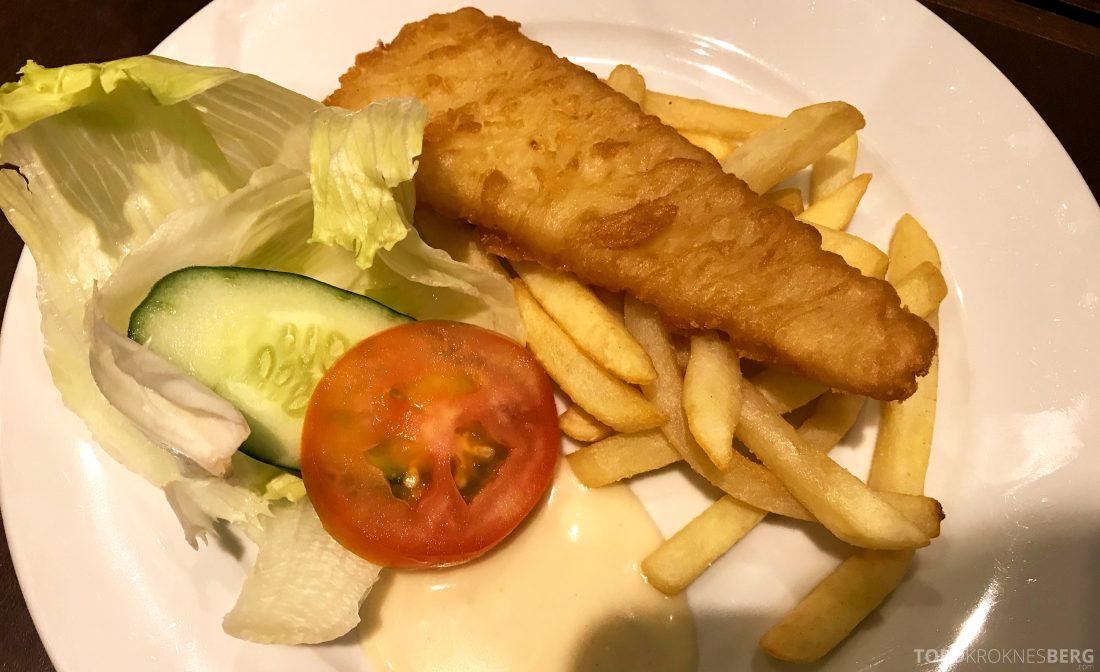 Plaza Premium Lounge Penang fish and chips