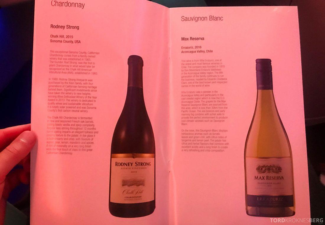 Qatar Airways Business Class Oslo Doha Penang vin
