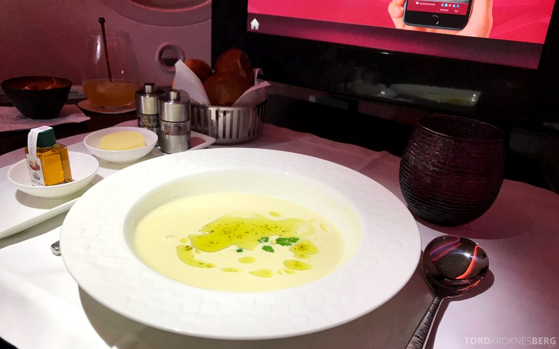 Qatar Airways Business Class Oslo Doha Penang suppe