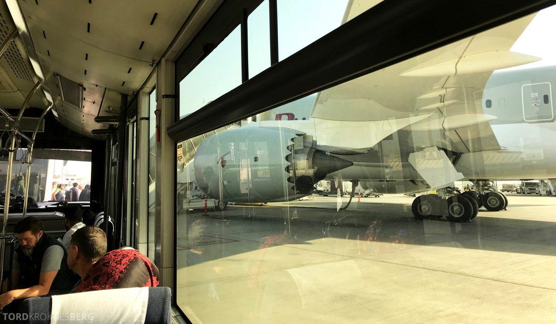 Qatar Airways Business Class Oslo Doha Penang buss