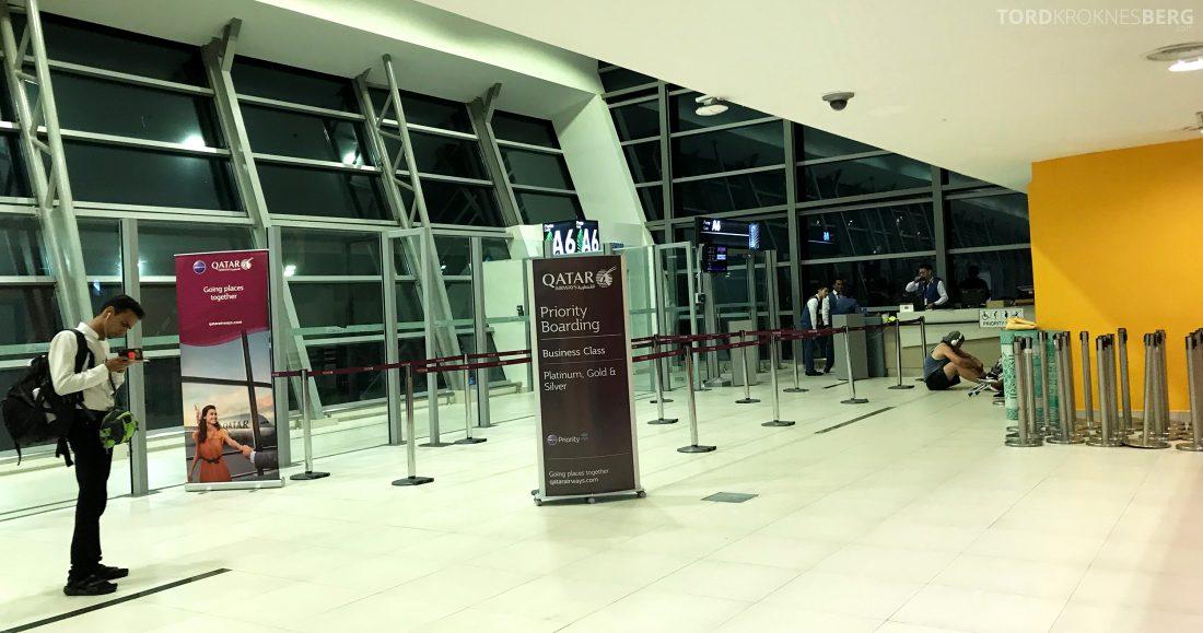 Qatar Airways Business Class Oslo Doha Penang gate