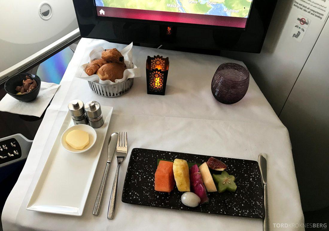 Qatar Airways Business Class Oslo Doha Penang frukt