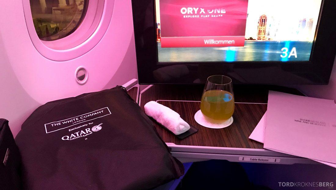 Qatar Airways Business Class Oslo Doha Penang velkomstservice