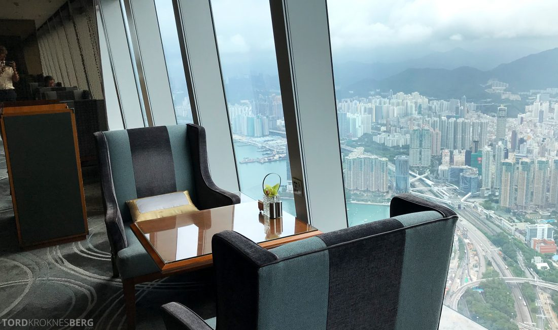 Ritz-Carlton Hong Kong Club Lounge sitteplasser