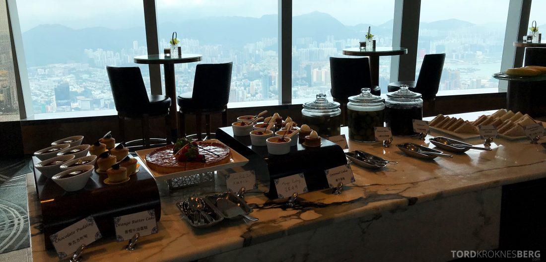 Ritz-Carlton Hong Kong Club Lounge lunch kaker
