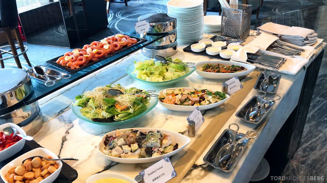 Ritz-Carlton Hong Kong Club Lounge lunch