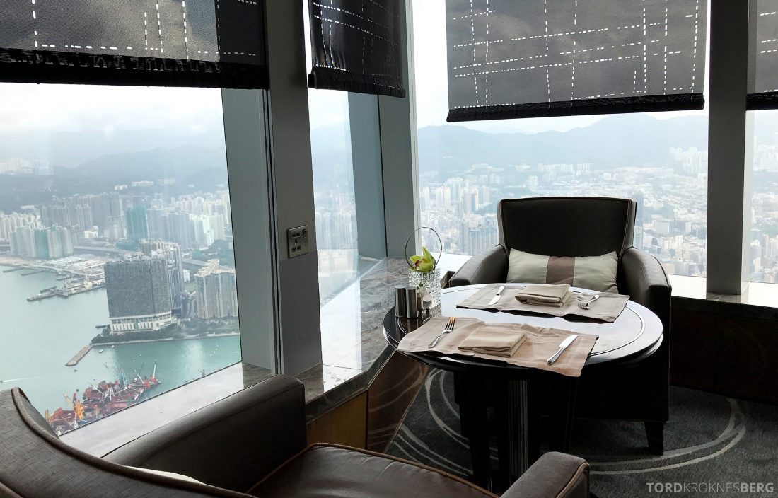 Ritz-Carlton Hong Kong Club Lounge utsikt
