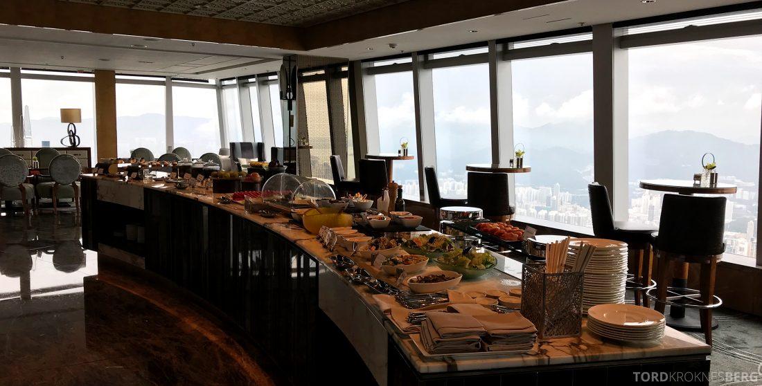 Ritz-Carlton Hong Kong Club Lounge buffet
