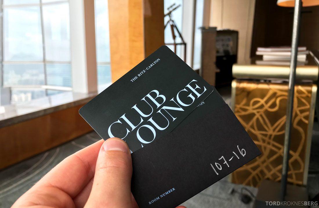 Ritz-Carlton Hong Kong Club Lounge kort