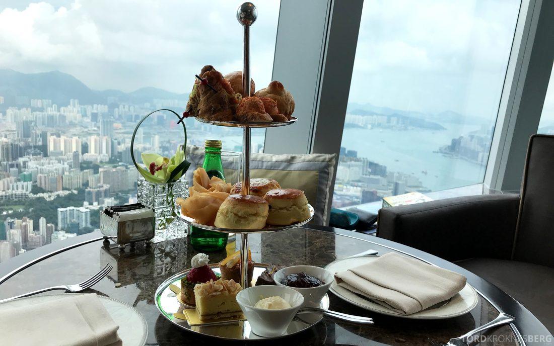 Ritz-Carlton Hong Kong Club Lounge afternoon tea