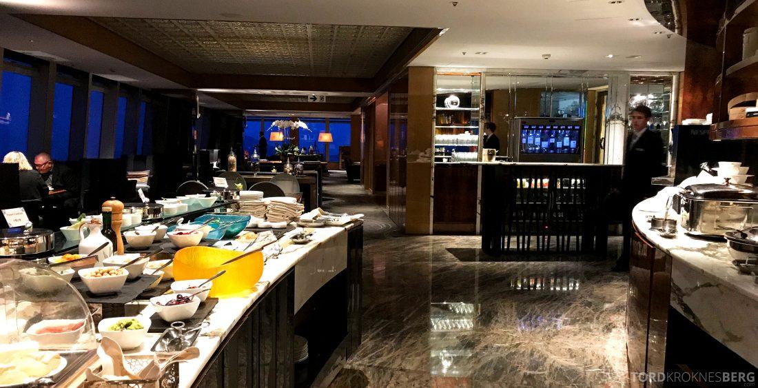 Ritz-Carlton Hong Kong Club Lounge buffetområde