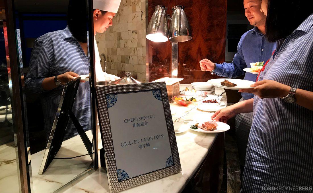 Ritz-Carlton Hong Kong Club Lounge dagens rett