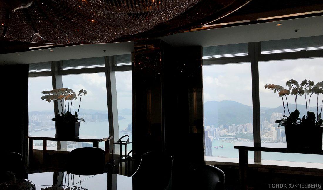 Ritz-Carlton Hong Kong Hotel presidentsuite utsikt spisebord
