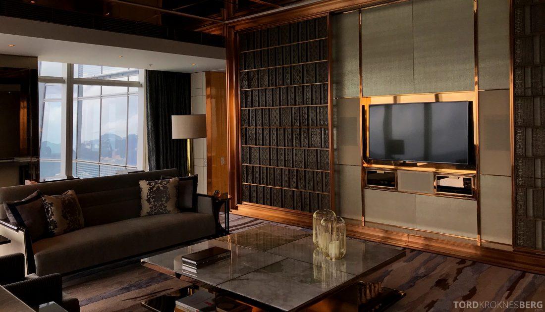 Ritz-Carlton Hong Kong Hotel presidentsuite stue