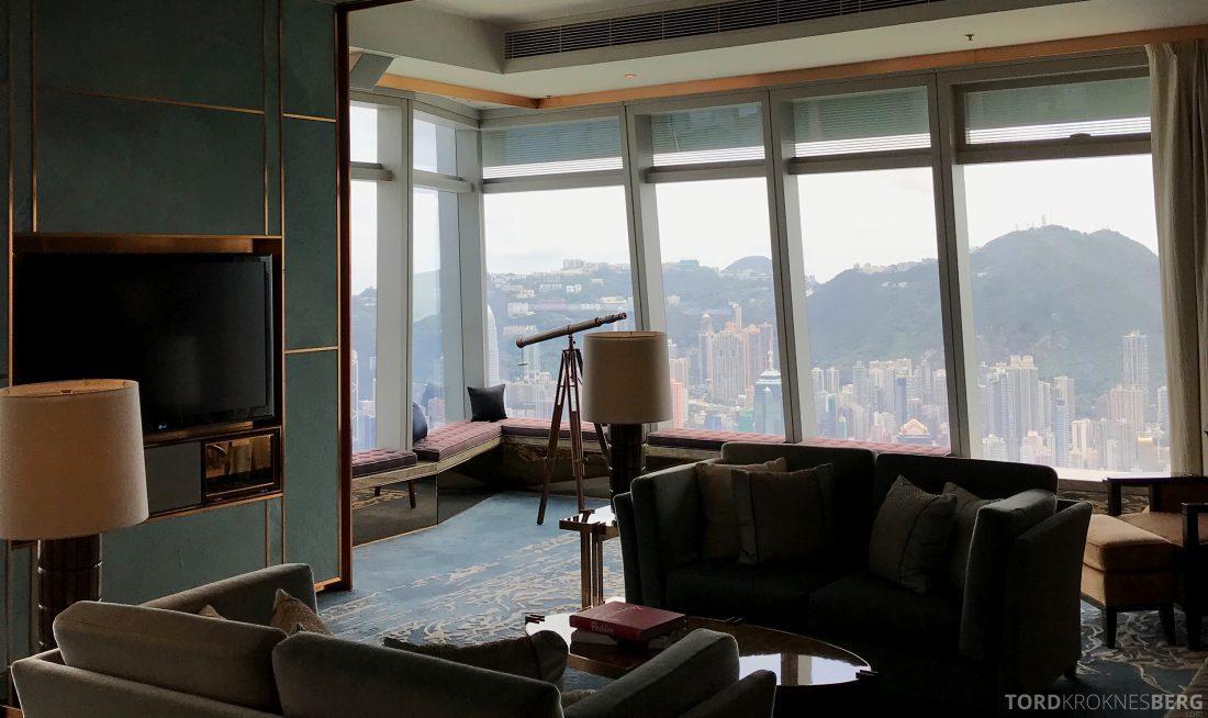 Ritz-Carlton Hong Kong Hotel presidentsuite utsikt